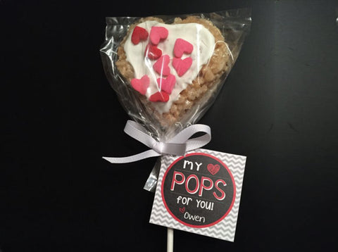 My Heart POPS for You Valentine's Day Treat Tag Label - Customizable - Printable