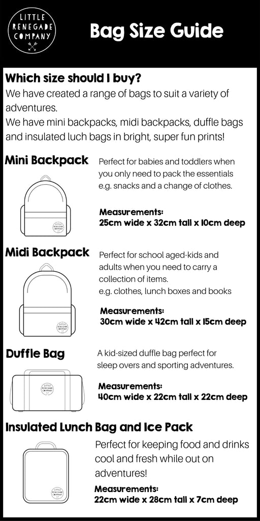 bag size guide