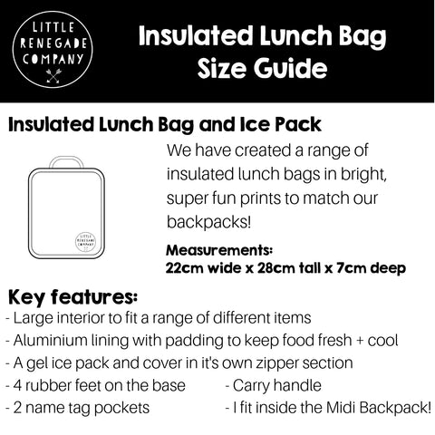 LUNCH BAG SIZE GUIDE