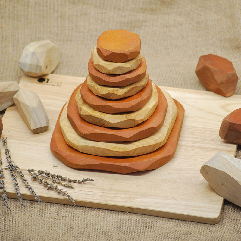 WOODEN STACKING STONES