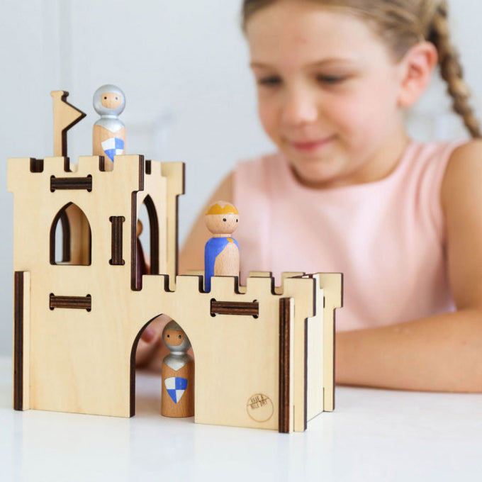 CASTLE WOODEN PLAY SET