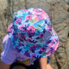 PASTEL POSIES REVERSIBLE BUCKET HAT