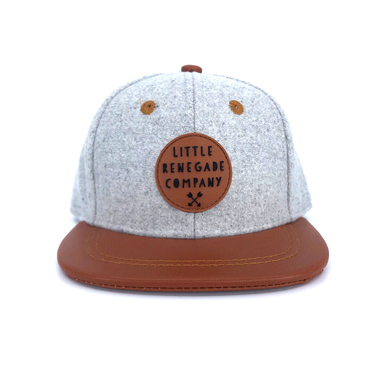 GREY FELT AND TAN CAP – 3 Sizes
