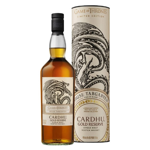 House Targaryen Game of Thrones Scotch Whisky - Cardhu Gold Reserve 700ml - The Malt Vault