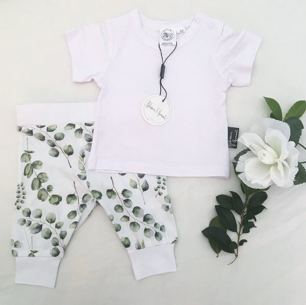 Bamboo - Eucalyptus Pants & T-Shirt set