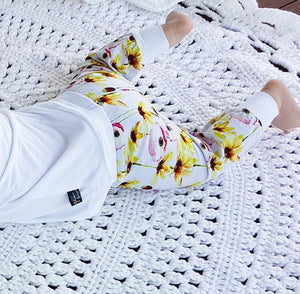 Bamboo - Yellow Flower Pants & T-Shirt set