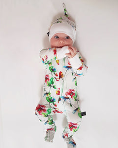 Bamboo - Red Flower Romper