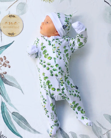 Bamboo - Eucalyptus Coverall Romper
