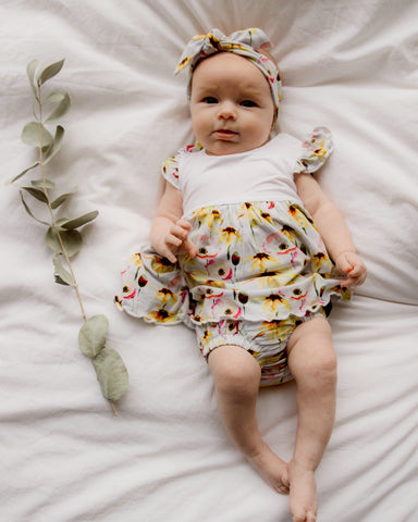 Bamboo - Yellow Flower Dress Set