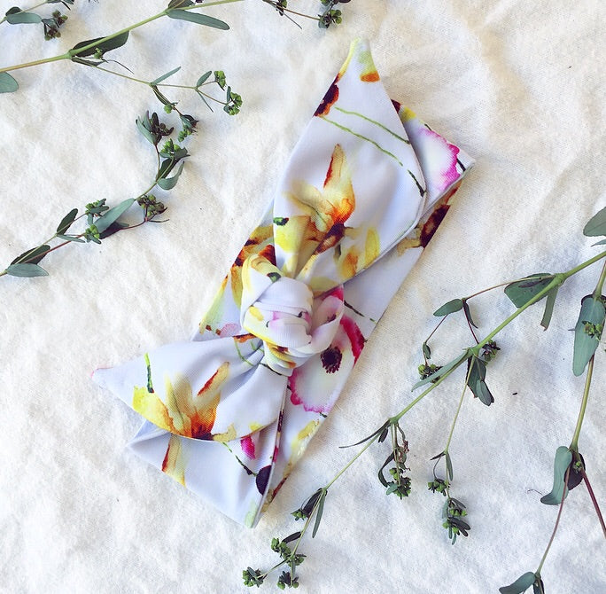 Bamboo - Yellow Flower Headband