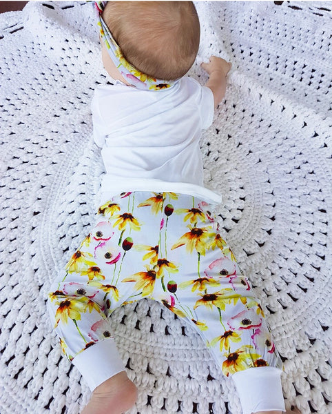 Bamboo - Yellow Flower Pants
