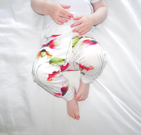 Bamboo - Pink Flower Pants