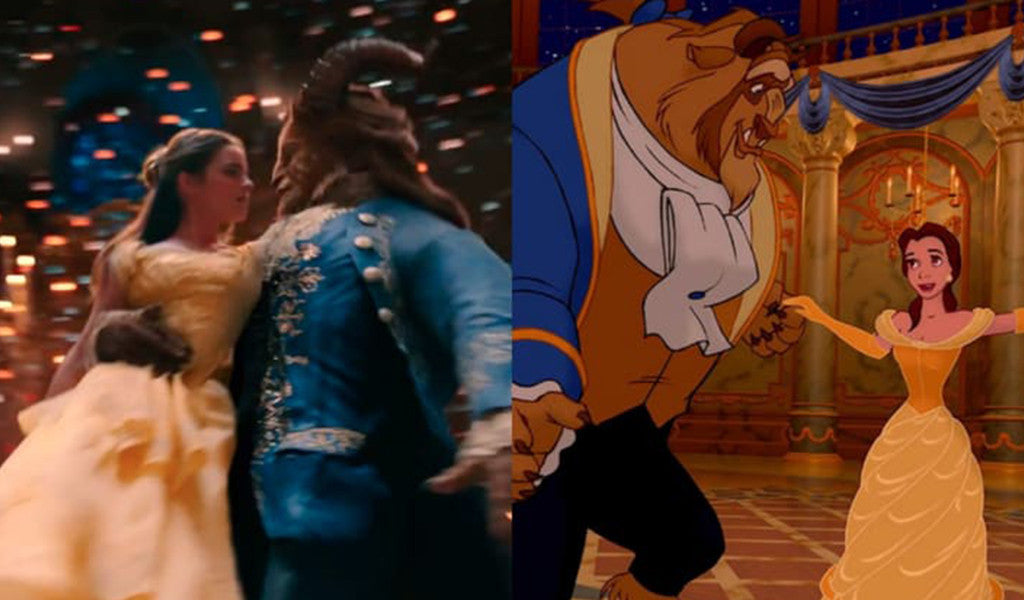 WATCH: Beauty and the Beast Animated vs. Live Action