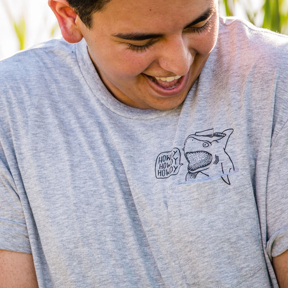 Howdy Shark Pocket Tee - Whosits & Whatsits