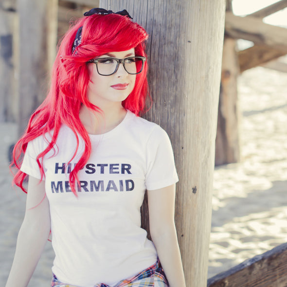 Hipster Mermaid Women's Tee - Whosits Whatsits