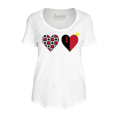 Queen of Hearts Women's Tee - Whosits & Whatsits