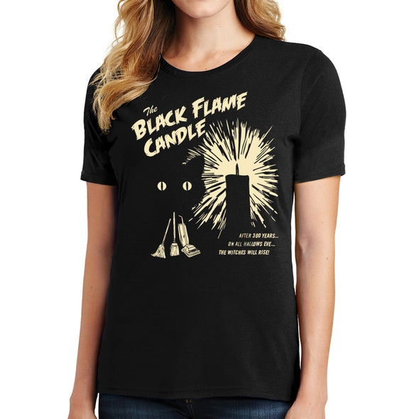 Black Flame Candle Tee - Whosits Whatsits