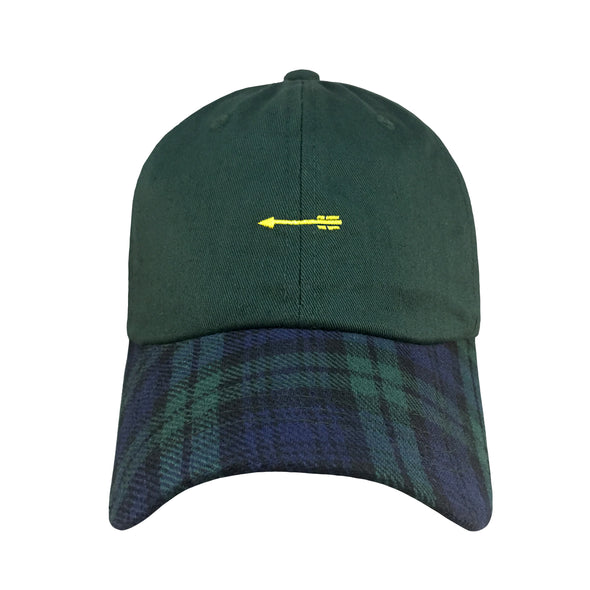Change Your Fate is a two toned dad hat embroidered with an arrow inspired by Princess Merida in Pixars Brave