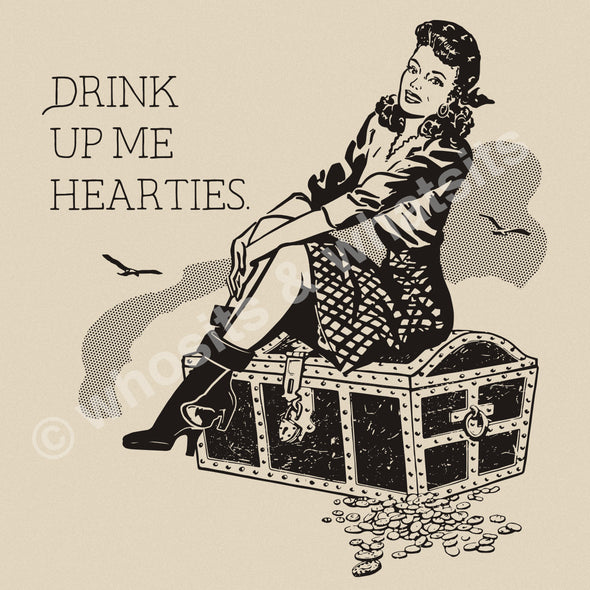 Drink Up Me Hearties Tee - Whosits Whatsits