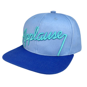 blue two toned snapback with 3D embroidered Applause sign