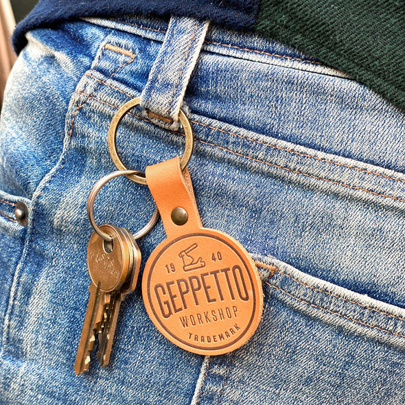 Geppetto Workshop Leather Keychain - Whosits Whatsits