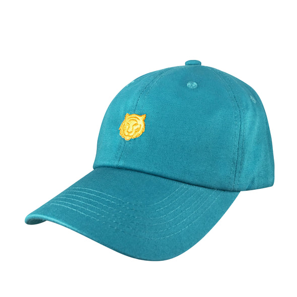 teal gilded tiger dad hat inspired by jasmine from aladdin