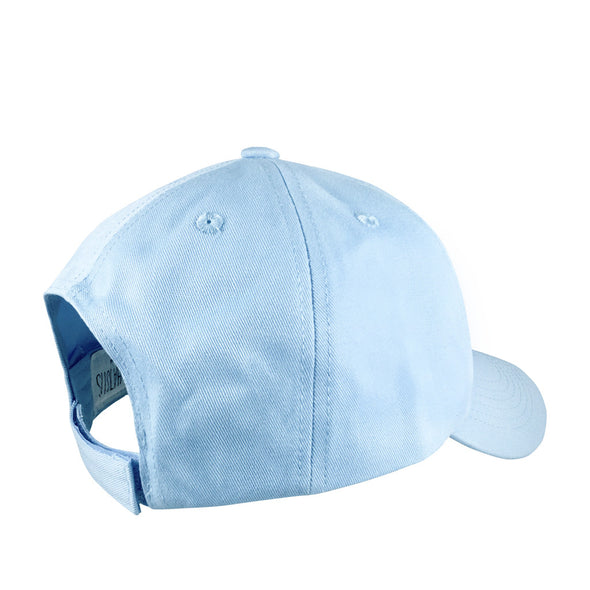 light blue glass slipper dad hat inspired by cinderella with velcro strap back