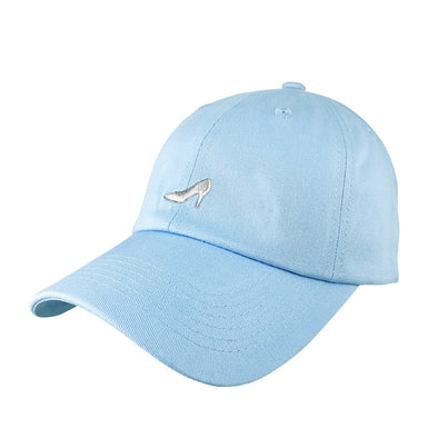 light blue glass slipper dad hat inspired by cinderella