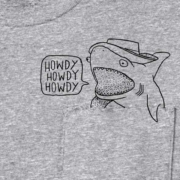 Howdy Shark Pocket Tee