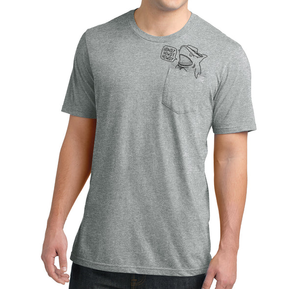 Howdy Shark Pocket Tee - Whosits Whatsits