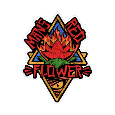 Man's Red Flower Sticker - Whosits Whatsits
