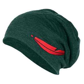 the original green neverland slouchy beanie inspired by peter pan and the lost boys