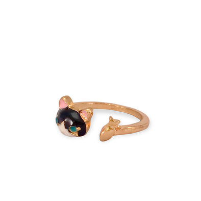 pinocchios companions ring features figaro with cleo in an adjustable ring