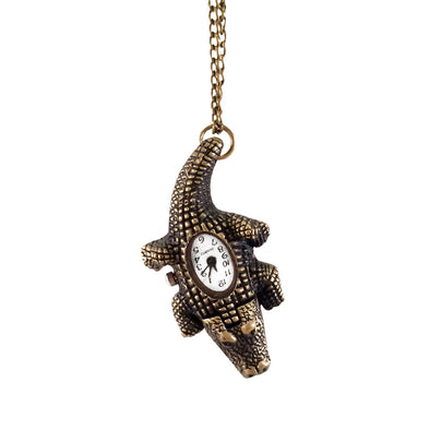 Tick Tock Croc Clock Necklace