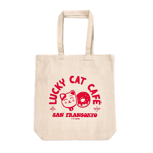 Lucky Cat Café Tote - Whosits & Whatsits