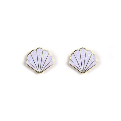 Mermaid Shell Earrings - Whosits Whatsits