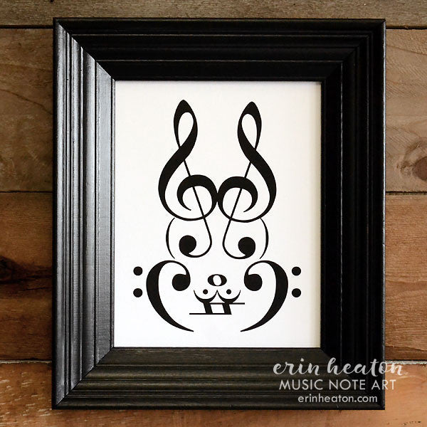 Rabbit Music Art Print | erinheaton.com
