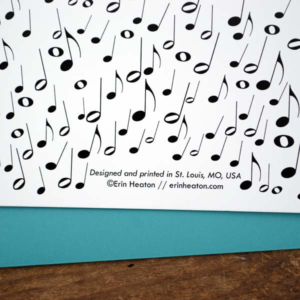 Music Note Confetti Happy Birthday Card