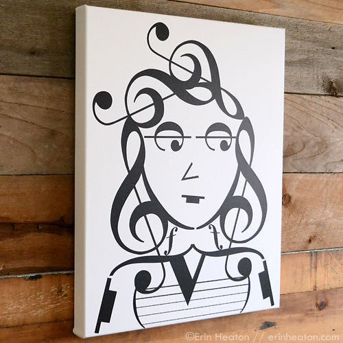 Upgrade any music note design to a large canvas print