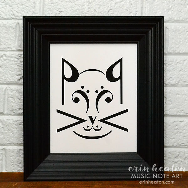 Cat Music Art Print | erinheaton.com
