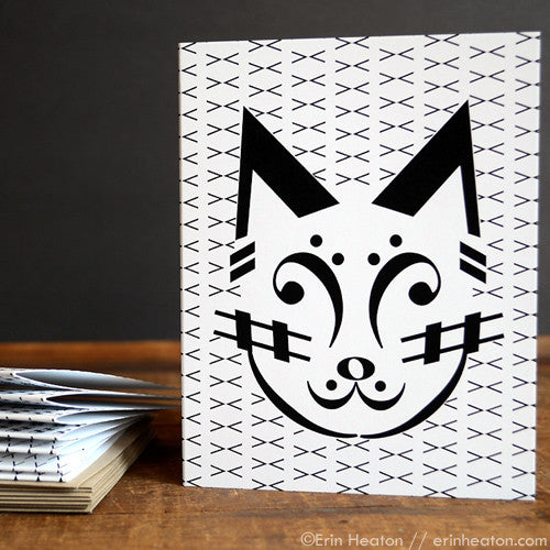 Cat Music Note Cards – Set of 8