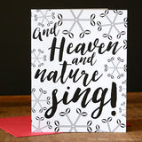 'And Heaven and Nature Sing' Music Holiday Card
