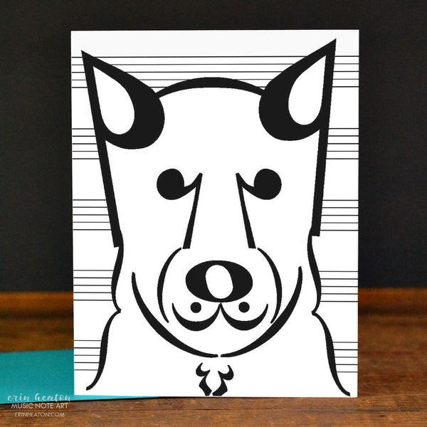 Dog Music Note Cards – Set of 8 | erinheaton.com