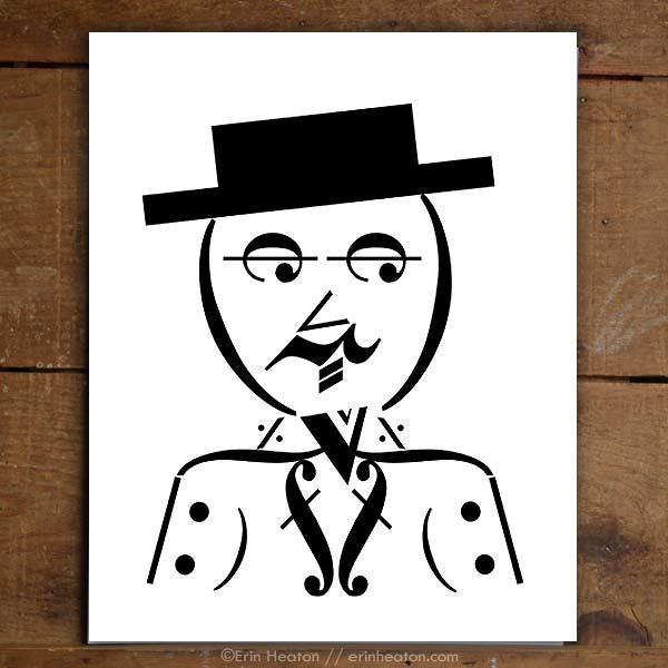 Dapper Man Music Note Art Print