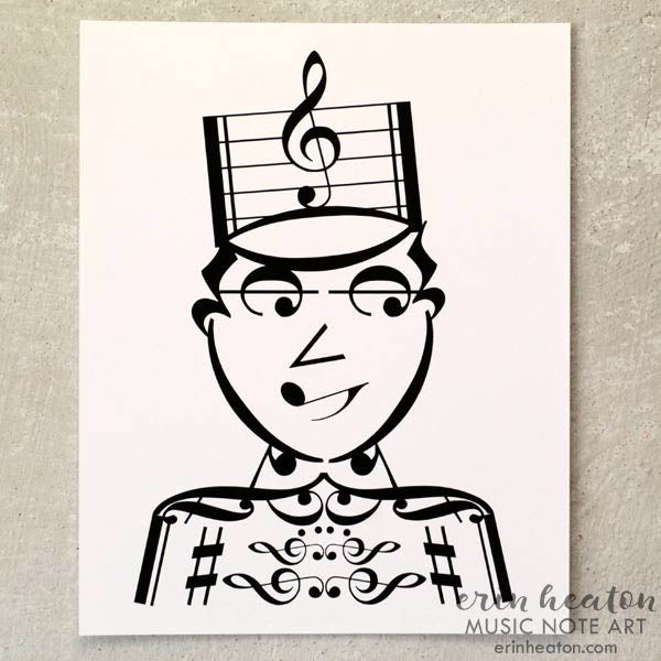 Drum Major - Marching Band Music Art Print