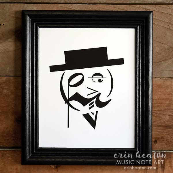 Fancy Man Music Note Art | erinheaton.com