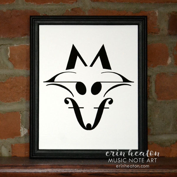 Fox Music Note Art Print | erinheaton.com