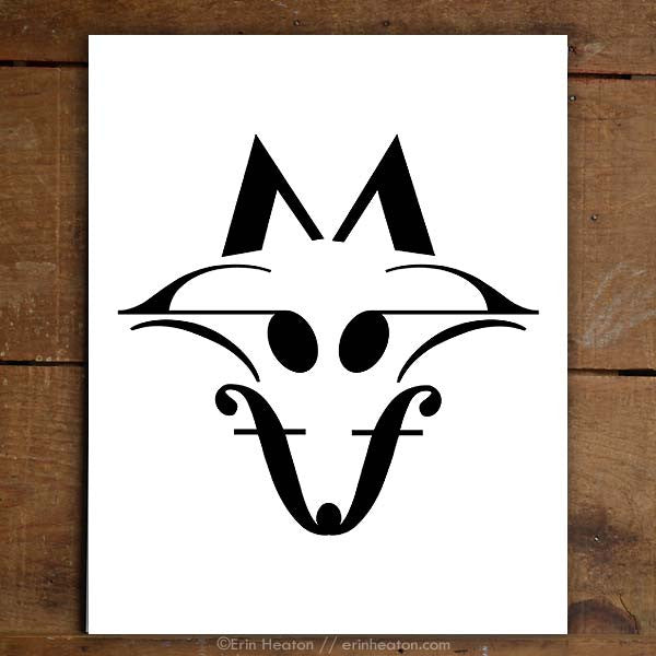 Fox Music Note Art Print