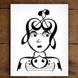 Indie Series: Foxy Lady Music Note Art Print