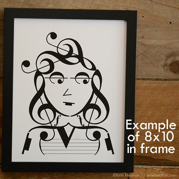 Add a frame to your 5×7 or 8×10 Music Note Print
